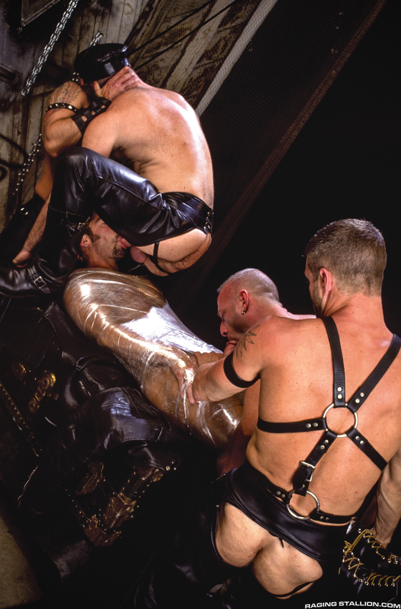 Gay Leather Orgy